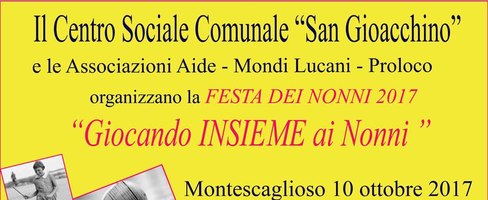 'Festa dei Nonni -Millepiazze 2017' a Montescaglioso
