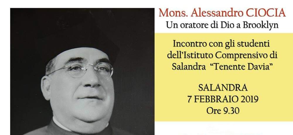 "Presentazione Mons. Alessandro Ciocia – I.C. Salandra ""Tenente Davia"""