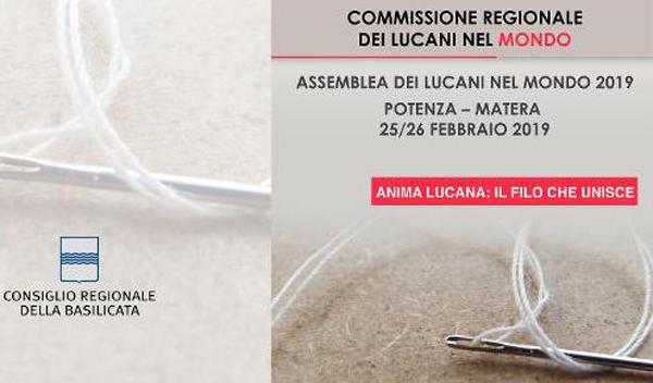 Assemblea Lucani nel mondo, 25-26/2 a Potenza e Matera
