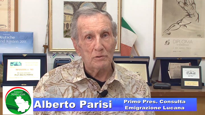 Il Video – E' mancato Alberto Parisi primo Presidente Consulta Emigrazione Lucana