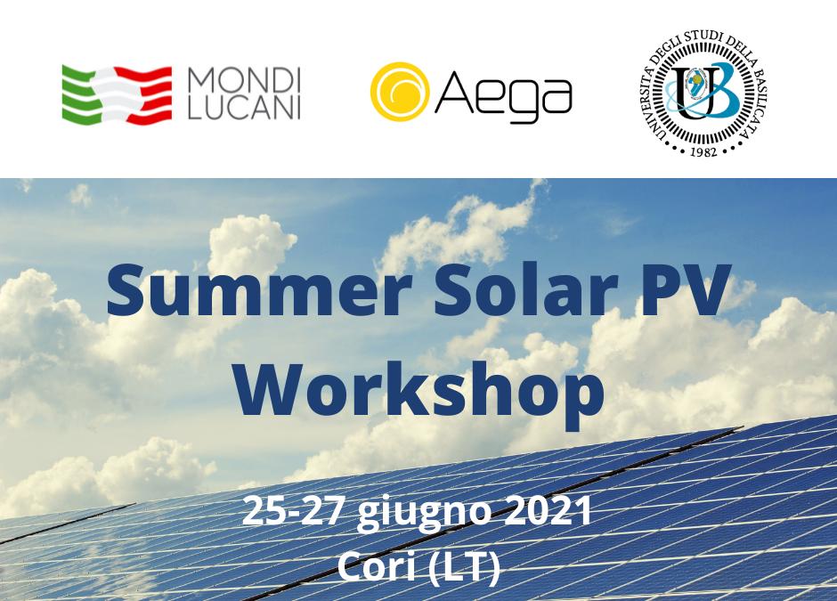Dal 25 al 27 giugno il Summer Solar PV Workshop di Aega ASA per 10 studenti Unibas