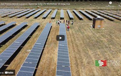 """Dal Premio Mondi Lucani il """"Summer Solar PV Workshop"""" di Aega ASA. Il video"""