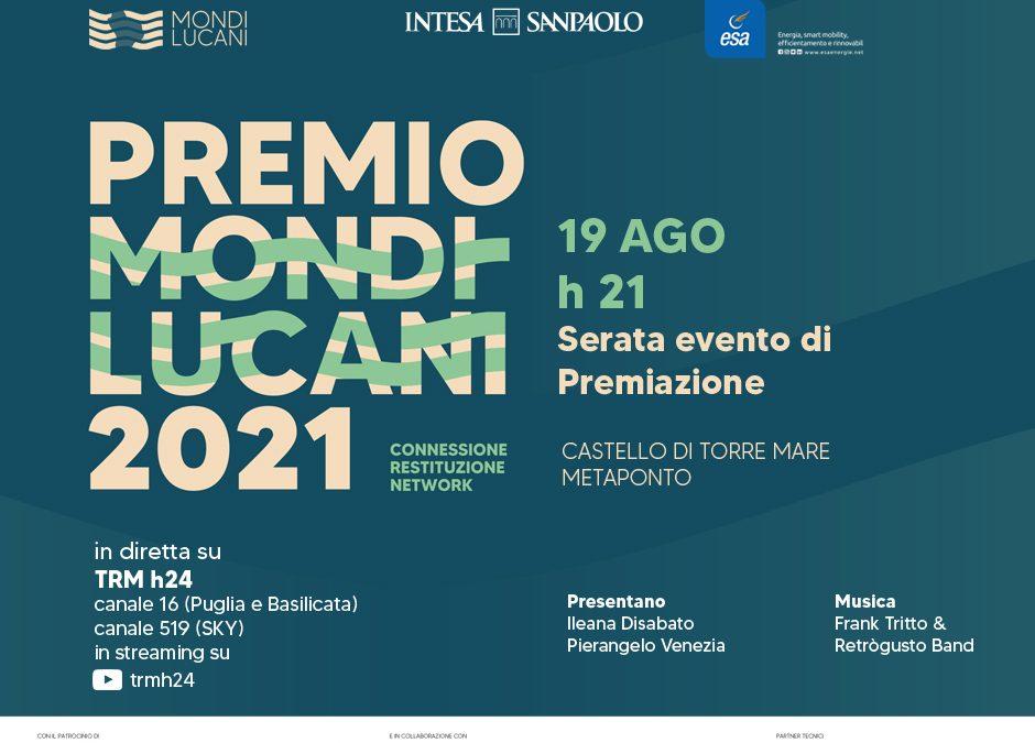 Premio Mondi Lucani, il 19 agosto la serata evento di premiazione